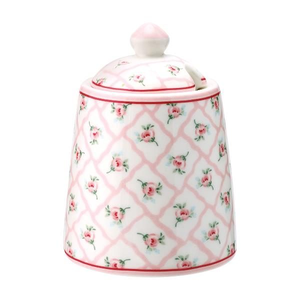 GreenGate Sugar Pot - Sukkerskål - Rita Pale Pink