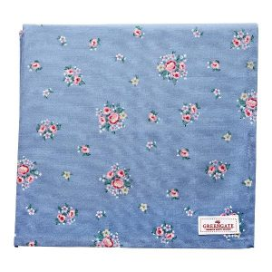GreenGate Tablecloth – Dug – Nicoline Dusty Blue 150×150 cm