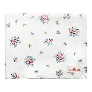 GreenGate Tablecloth – Dug – Nicoline white 145 x 250 cm.