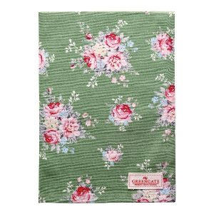 GreenGate Tea Towel – Viskestykke – Aurelia Green