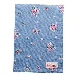 GreenGate Tea towel – Viskestykke – Nicoline Dusty Blue