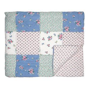 GreenGate Bed cover / Quilt / Tæppe - Nicoline white patch diff. size 140x240