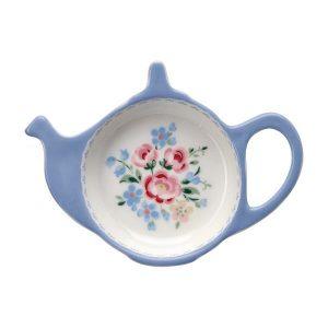 Greengate Teabag holder – Tebrevsholder – Nicoline Dusty Blue
