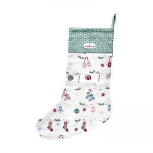 GreenGate Stocking – Julestrømpe – Jingle Bell White